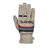 Helstons Bora Hiver Gloves Beige Blue Red