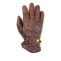Helstons Boston Pull Up Leather Gloves Brown