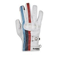 Helstons Burton Gloves White Blue Red