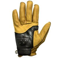 Helstons Hiro Soft Leather Gloves Gold Black