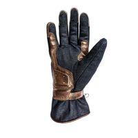 Helstons One Denim Gloves Blue Gold