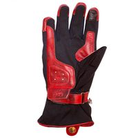 Helstons One Ladies Gloves Black Red