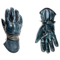 Helstons Rider Leather Gloves Blue