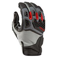 Klim Baja S4 Gloves Monument Grey Redrock