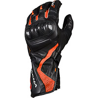 Macna Apex Gloves Black Red Neon