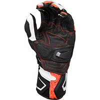 Gants Macna Track R Orange Noir Blanc