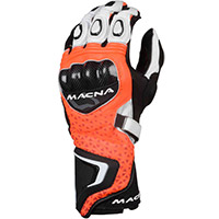 Macna Track R Gloves Orange Black White