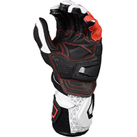 Macna Track R Gloves White Black Red