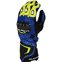 Macna Track R Gloves Blue Black Yellow