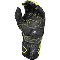 Macna Track R Gloves Black Grey Yellow