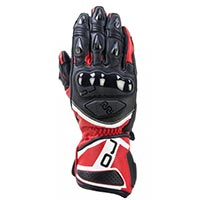 Oj Feat Racing Gloves Red Black