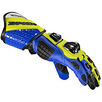 Spidi Carbo Track Evo Gloves Blue Yellow