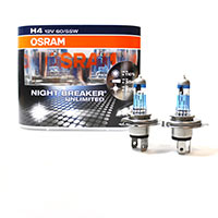 Blister Con 2 Lamp.osram Night Racer +110 H4 12v 60/55w P43t