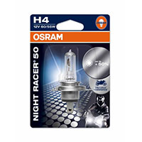 OSRAM LAMP NIGHT RACER +50 H4 12V 60/55W P43T