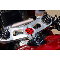 Ducabike Panigale V4 Steering Head Nut Ring Red