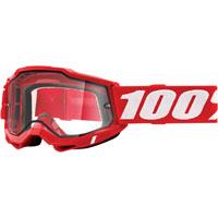 Maschera 100% Accuri 2 Enduro Rosso Lente Chiara