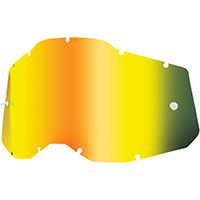 100% Racecraft2/accuri2/strata2 Lens Gold