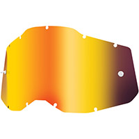100% Racecraft2/accuri2/strata2 Lens Red