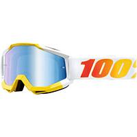 Gafa 100% Accuri Astra amarillo blanco lente azul