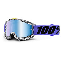 100% Accuri Brentwood Lens Mirrored Blue