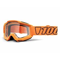 Gafa 100% Accuri Luminari naranja lente transparente