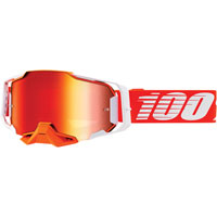 Off Road Goggles 100% Armega Regal Mirror Lens Red