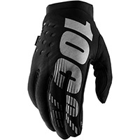 100% Brisker Lady Gloves Black