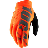 100% Brisker Mx Gloves Fluo Orange