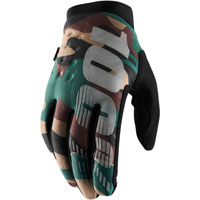 100% Brisker Mx Gloves Camo