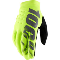 100% Brisker Mx Gloves Fluo Yellow