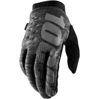 100% Brisker Mx Gloves Grey