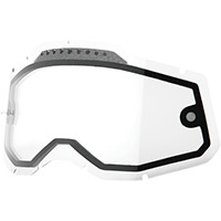 100% Dual Vented Accuri/racecraft 2 Lens Clear