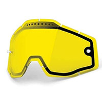 100% Dual Vented Racecraft/accuri/strata Lens Yellow