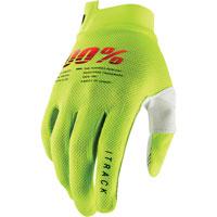 100% Itrack Mx Glove Fluo Yellow