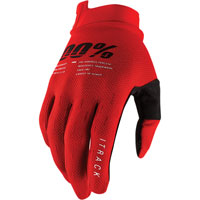 100% Itrack Mx Glove Red