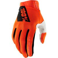 100% Ridefit Mx Glove Fluo Orange