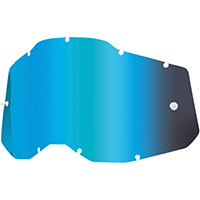 100% Racecraft2/accuri2/strata2 Lens Blue