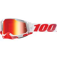 100% Racecraft 2 St-kith Lente Specchio Rosso