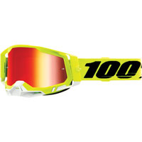 Off Road Goggles 100% Racecraft 2 Yellow Red Mirror