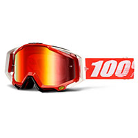 100% Racecraft Fire Red - Mirror Red Lens