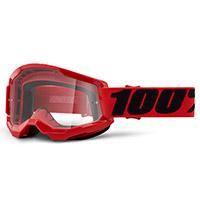 Maschera 100% Strata 2 Red Lente Rosso