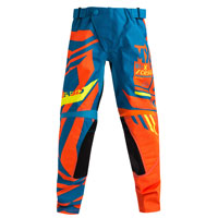 Acerbis Mx Fit Cross Kid Limited Edition Current Available Pantaloni 2018 Blu Arancio Fluo Bimbo