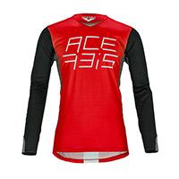 Camiseta Acerbis Mx J-Race rojo negro