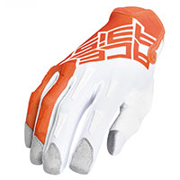 Acerbis Mx Xk Kid Gloves Orange White Kid