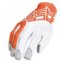 Acerbis Mx Xk Kid Gloves Orange White Kinder