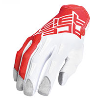 Acerbis Mx Xk Kid Gloves Red White Kinder