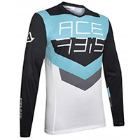 Acerbis Track Jersey Black Aqua