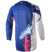Alpinestars Youth Racer Venom Jersey 2018 Blu Rosa Fluo Bimbo