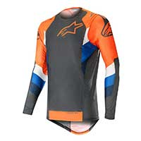 Alpinestar Supertech Jersey 2019 Anthracite Orange Fluo