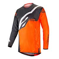 Alpinestar Techstar Factory Jersey 2019 Anthracite Orange Fluo